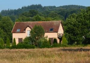 Forest and meadows surround La Chatouillette