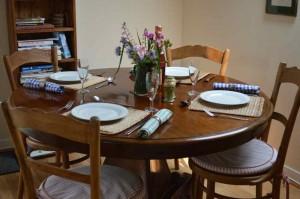 dinning table in gite