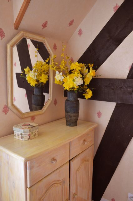 yellow flowers in room