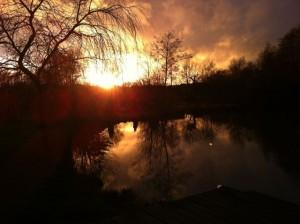 sunset february