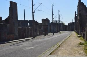tram lines: empty street